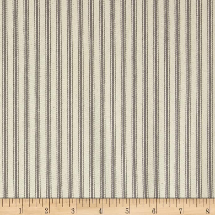 44 Ticking Stripe Grey Fabric From 6 78 Yd Fabric Com