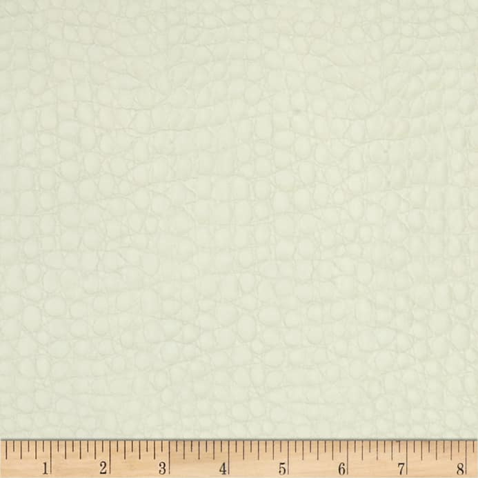Faux Leather Crocodile White Discount Designer Fabric Fabric Com