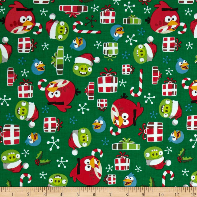 zoom angry birds holly jolly christmas green - Christmas Angry Birds