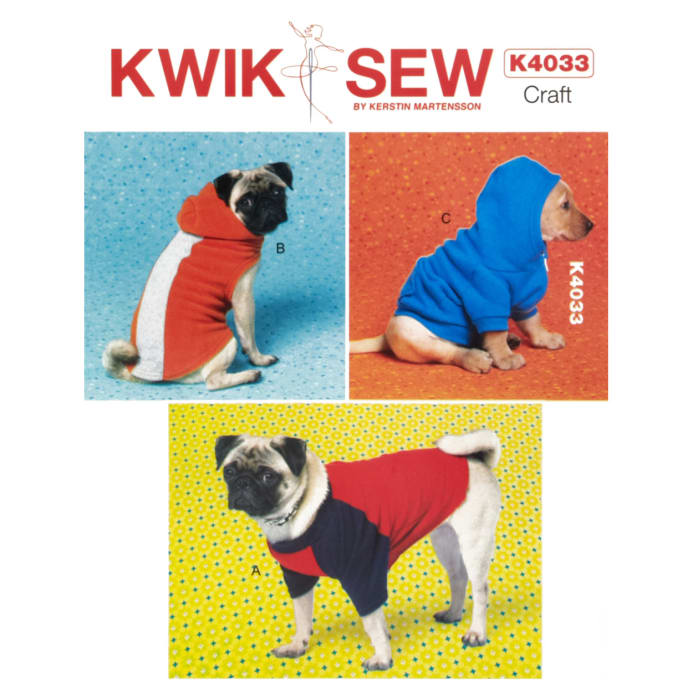 Kwik Sew Dog Coat Pattern - Discount Designer Fabric - Fabric.com