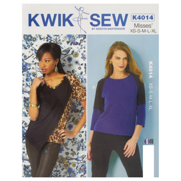 Kwik Sew Misses Knit Tops Pattern Discount Designer Fabric