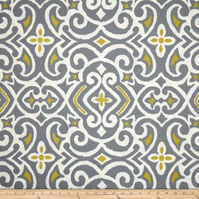 Zoom Robert Allen Home Indoor Outdoor Baja Damask Greystone