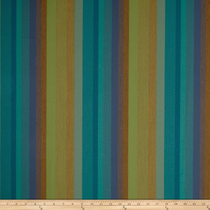Sunbrella Astoria 56096 0000 Stripe Lagoon Fabric