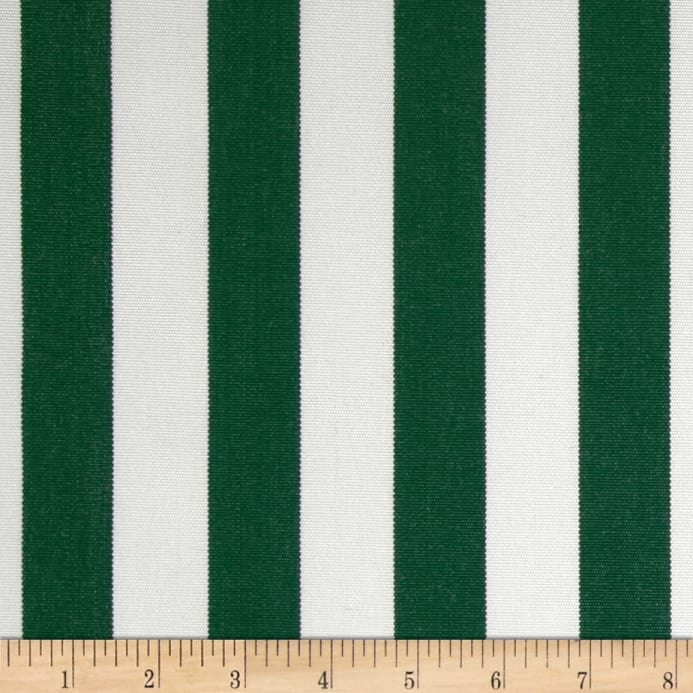 Zoom Sunbrella Outdoor Canvas Mason Stripe Forest Green