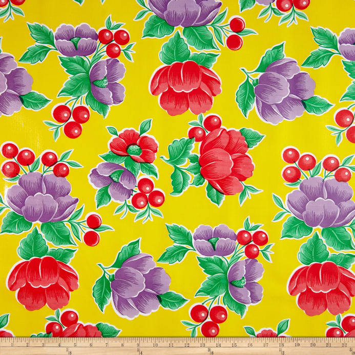 Zoom Oilcloth Poppy Yellow