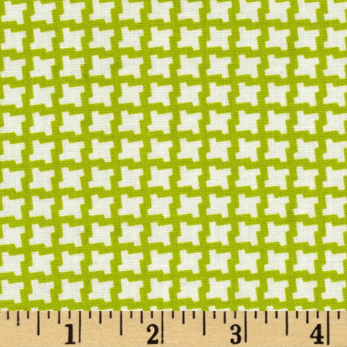 Heather Bailey Up Parasol Devon Check Green Discount Designer