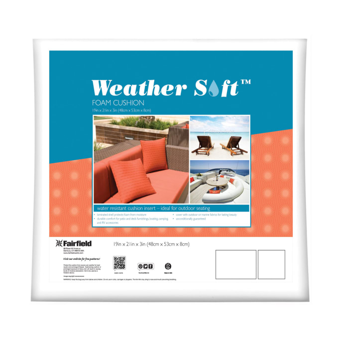 Fairfield Weather Soft Outdoor Cushion 19 X 21 X 3 Discount
