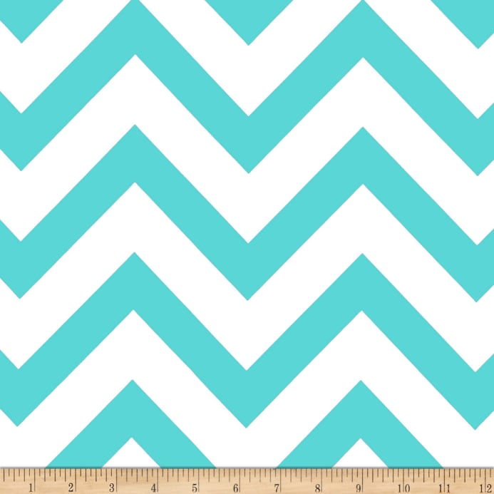 Mi Amor Duchess Satin Chevron Light Aqua/White - Discount Designer ...