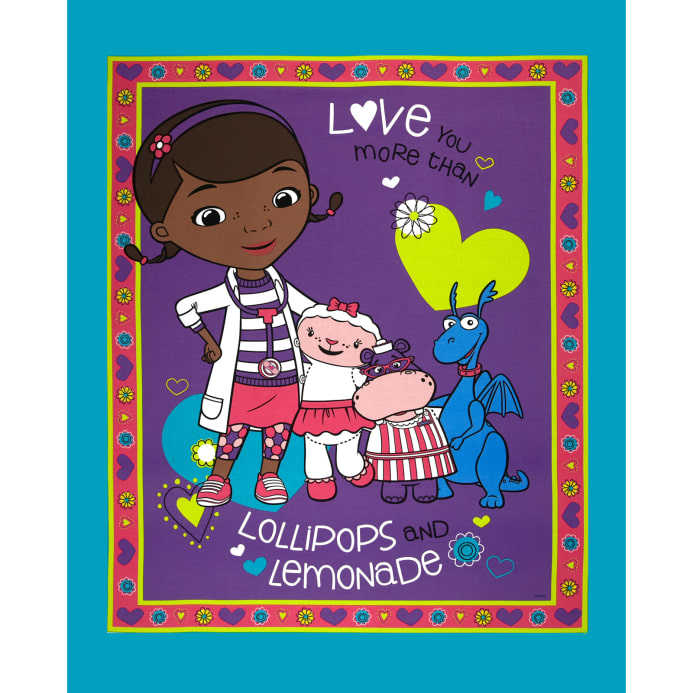 Disney Doc Mcstuffins Lollipops Amp Lemonade Panel Purple