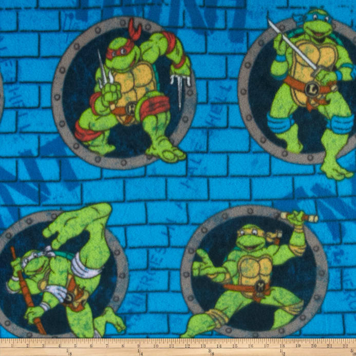 Teenage mutant ninja turtles fleece turtle power sewer for Solar system fleece fabric
