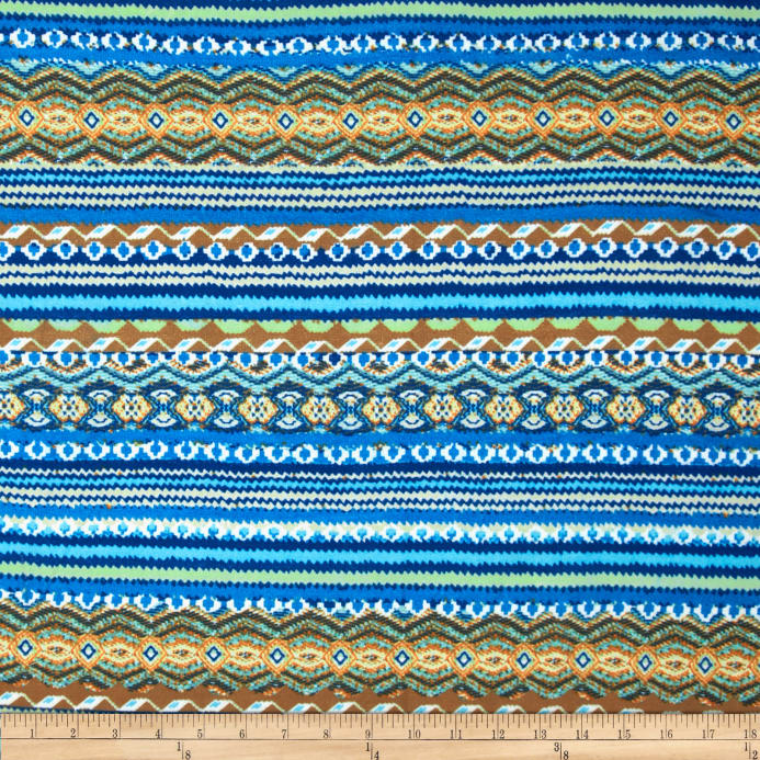 0c039fdceae Viva Hatchi Sweater Knit Abstract Aztec Blue - Discount Designer ...