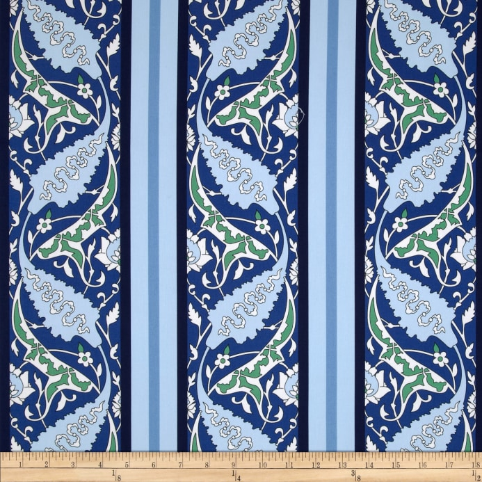 home decor fabric cheap snow leopard designs iznik home decor sateen beyati blue 10977