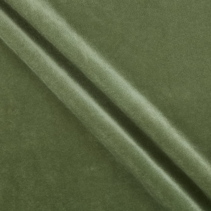 Alpine upholstery velvet olive discount designer fabric for Cheap green wallpaper