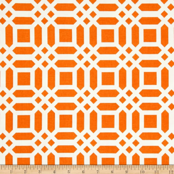 Zoom Riley Blake Home Decor Lattice Tangerine