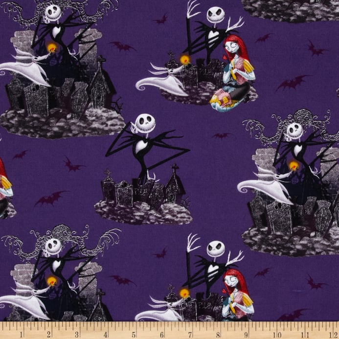 zoom tim burtons the nightmare before christmas allover purple