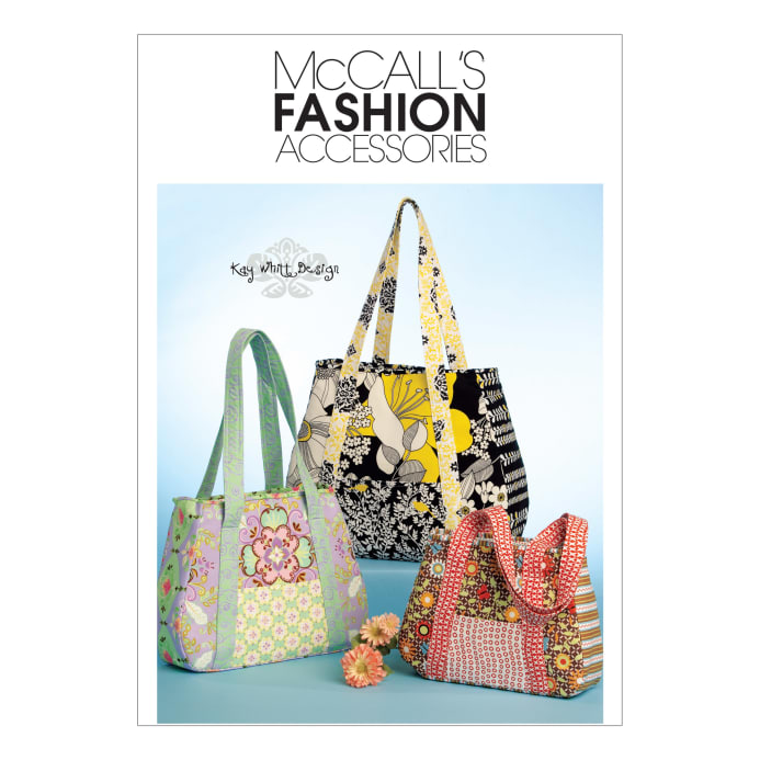 mccall 39 s tote bag in 3 sizes pattern m5822 size osz discount designer fabric. Black Bedroom Furniture Sets. Home Design Ideas