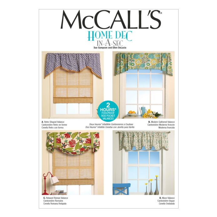 Mccall S Window Treatments Pattern M7034 Size Osz