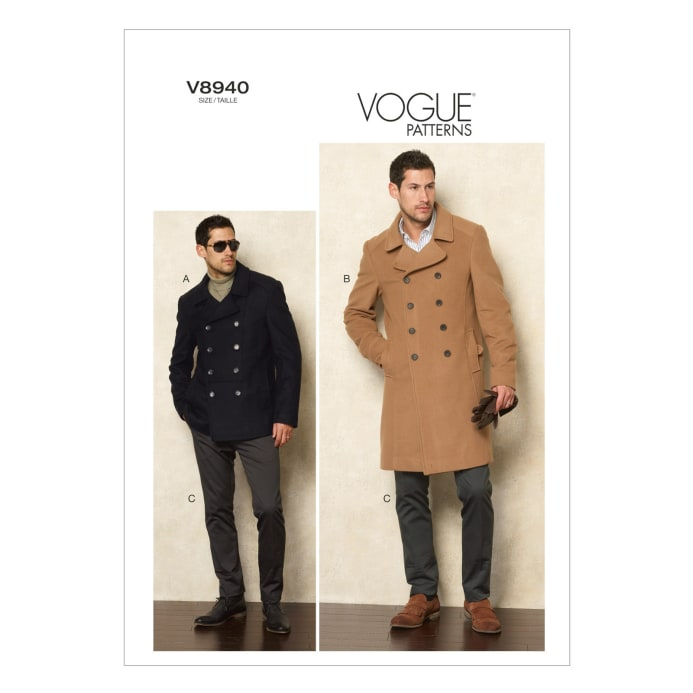 Vogue Men's Jacket And Pants Pattern V40 Size MUU Discount Adorable Mens Trench Coat Pattern