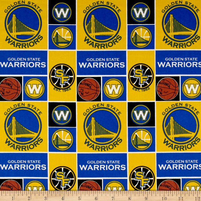 official photos 365f5 0876e zoom NBA Cotton Broadcloth San Francisco Golden State Warriors Patch