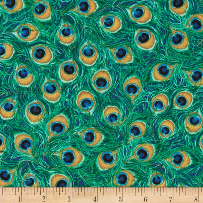 Peacock feather pattern fabric images for Patterned material for sale