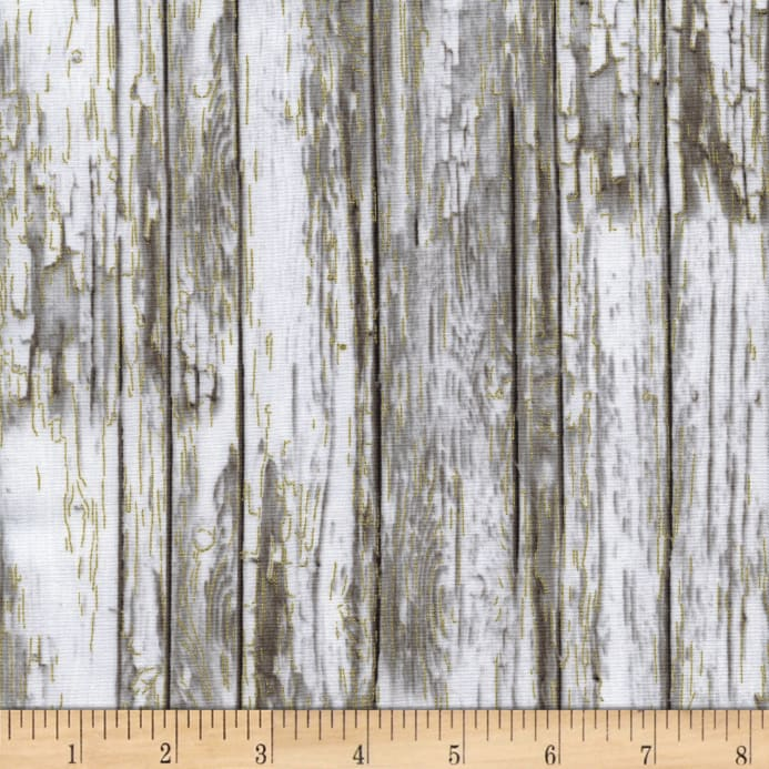 Timeless Treasures Country Christmas Metallic Wood Grain