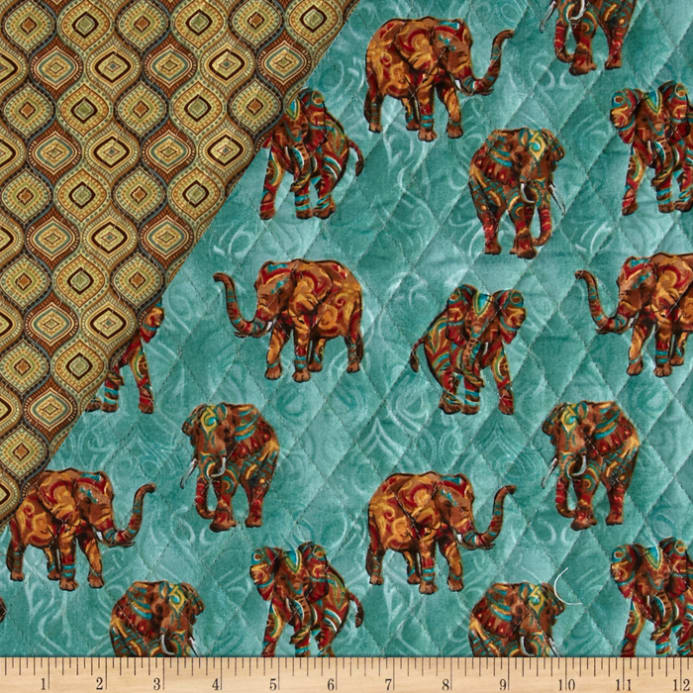 Tribal Instincts Double Sided Quilted Tribe Elephant