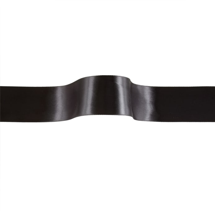 Zoom 1 2 Offray Double Face Satin Ribbon Black