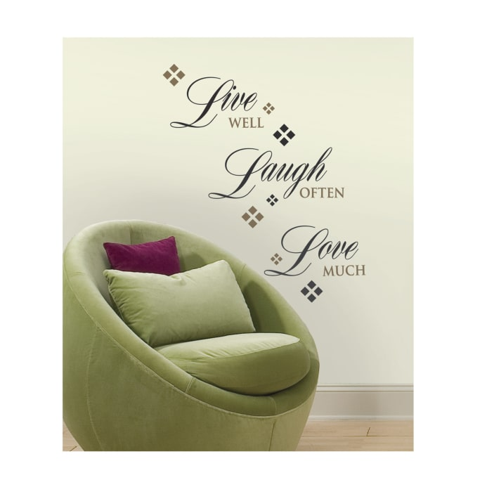 Captivating Zoom Live Laugh Love Wall Decals Part 10
