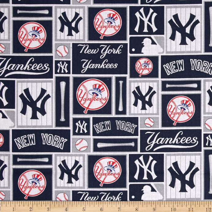 6e26cf995 MLB Cotton Broadcloth New York Yankees Blue White - Discount ...