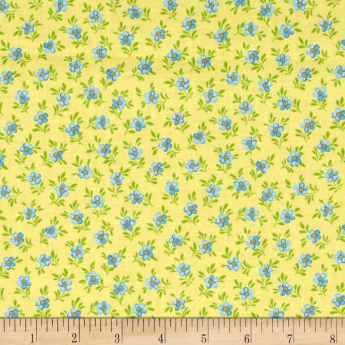Calico Collection Floral Yellow/Blue/Green - Discount Designer ...