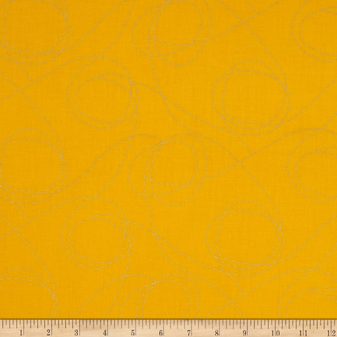 Heavy Metal Metallic Twisted Sister Canary Yellow Fabric