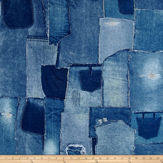 Limited Edition 108 In Wide Back Denim Patchwork