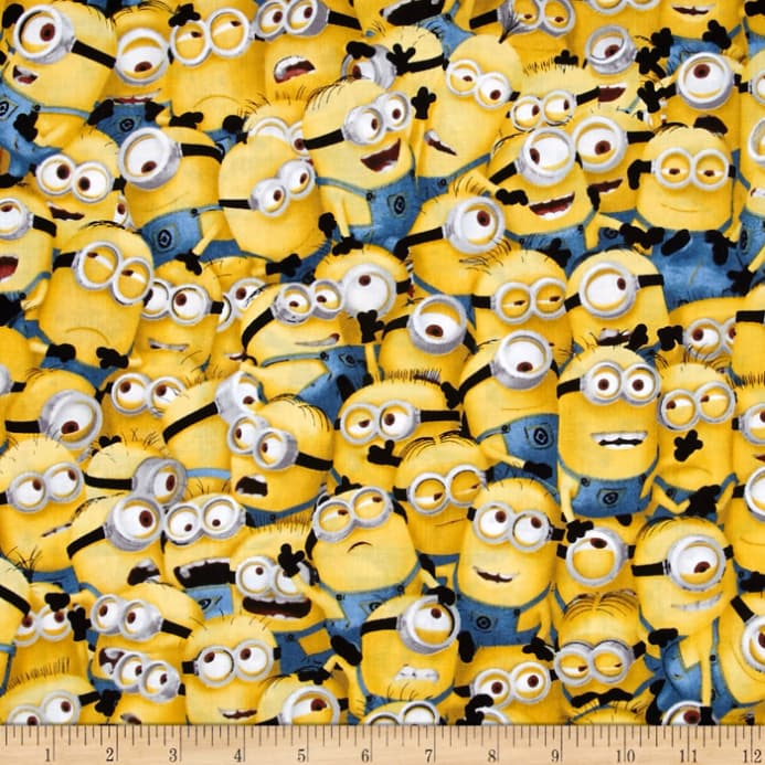 zoom QT Fabrics Universal Despicable Me 1 in A Minion Packed Minions Yellow