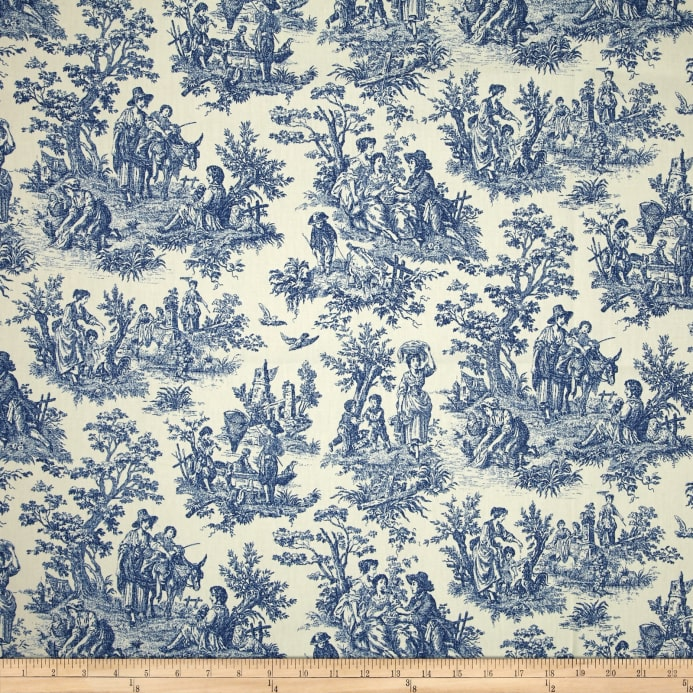 waverly charmed life toile cornflower discount designer fabric. Black Bedroom Furniture Sets. Home Design Ideas