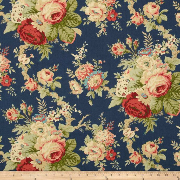 Waverly sanctuary rose heritage discount designer fabric for Buy black and blue roses