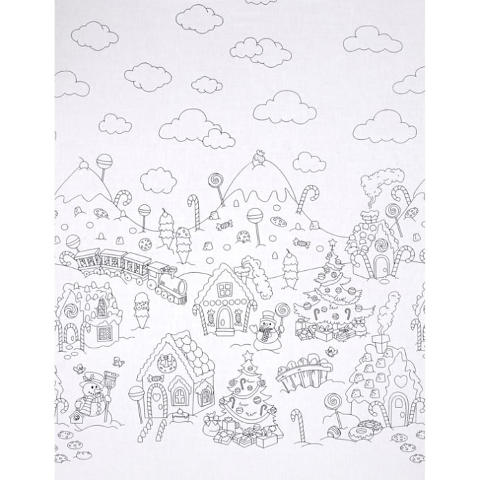 zoom michael miller color me christmas candy border