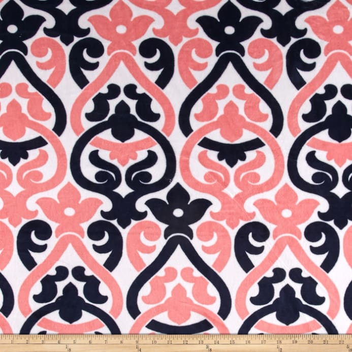 Sale The Deco Haus Tagged Blue: Shannon Premier Prints Minky Cuddle Deco Navy/Coral