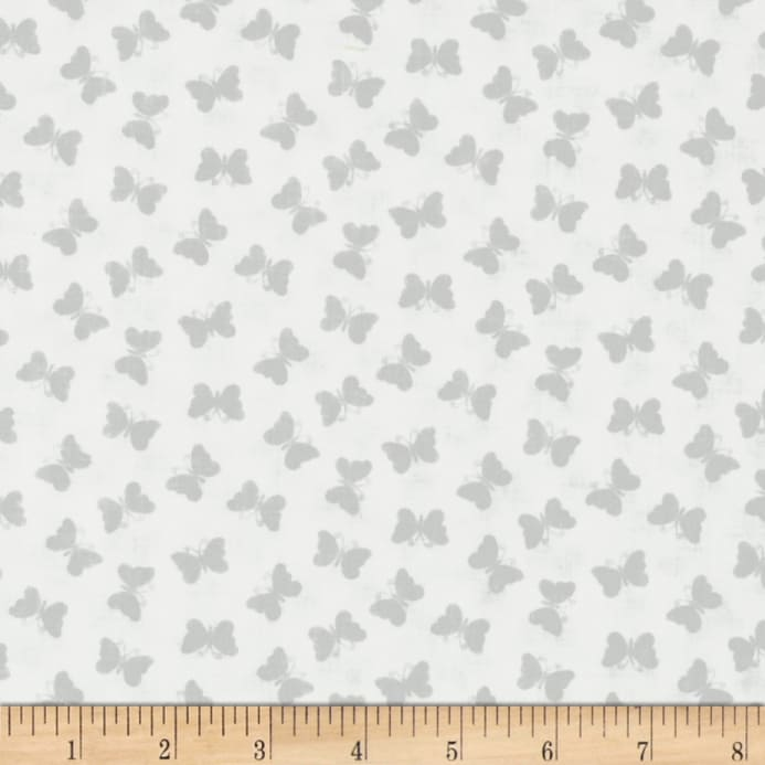 Icing On Fabric: Vanilla Icing Butterflies White