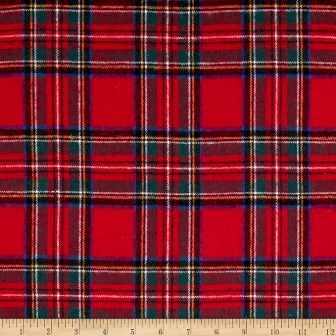 Zoom Yarn Dyed Flannel Plaid Red