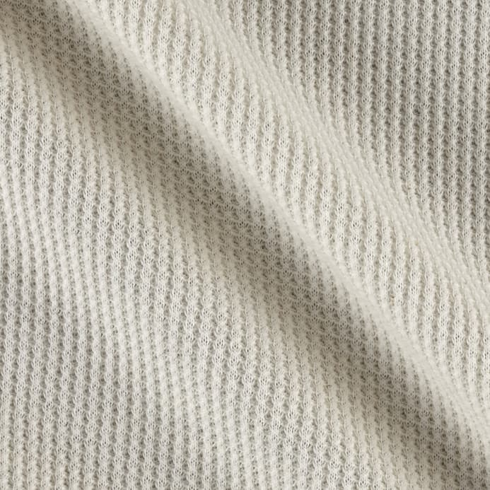 Kaufman Thermal Knit Natural Discount Designer Fabric