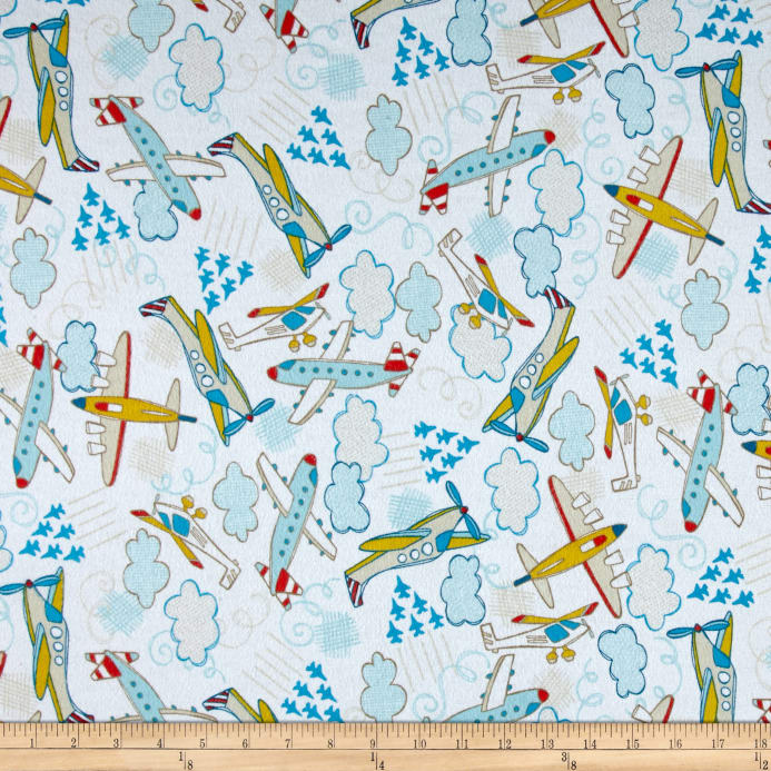 Flannel planes white discount designer fabric fabric zoom flannel planes white gumiabroncs Image collections