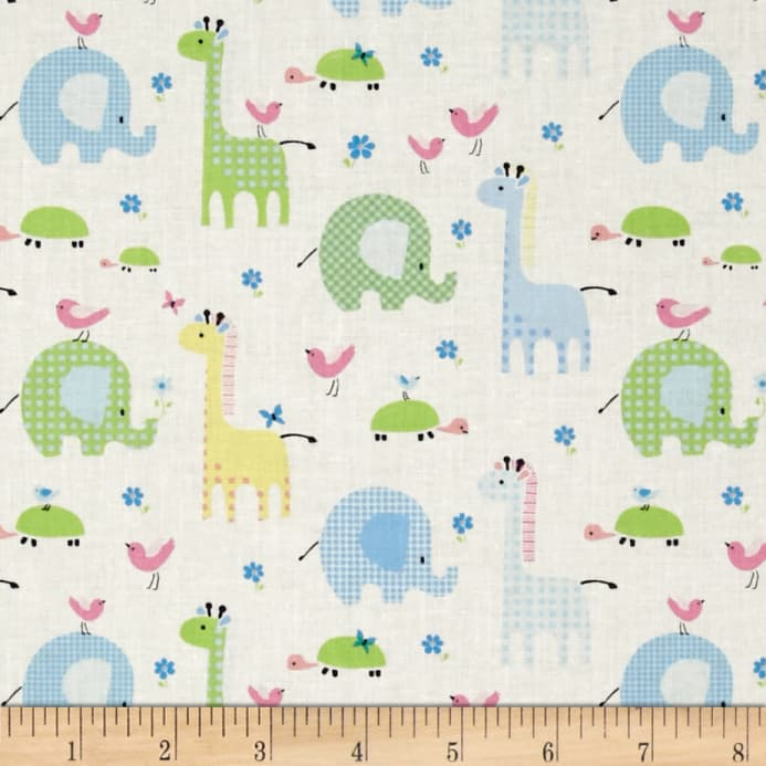 Bobo baby bobo friends pastel discount designer fabric for Cute baby fabric prints