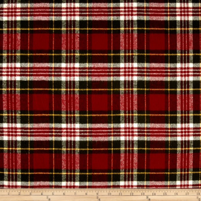 zoom primo flannel christmas plaid red - Christmas Plaid