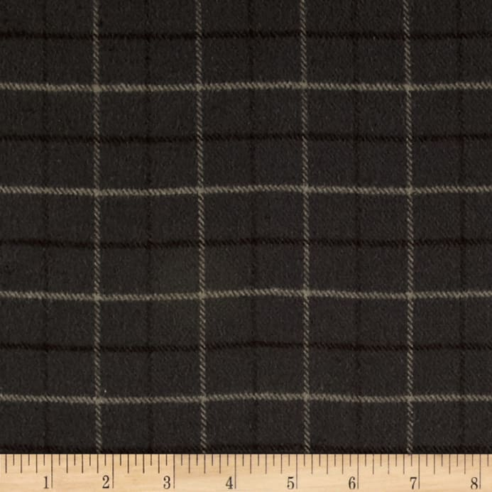 primo flannel smoky window pane plaid grey discount designer