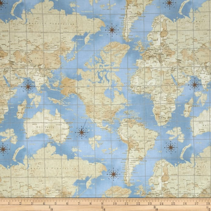 Theory of aviation world map multi discount designer fabric zoom theory of aviation world map multi gumiabroncs Gallery