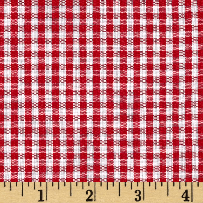 Zoom Wide Width 1 8 Gingham Check Red White