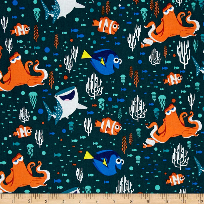 Zoom Disney Finding Dory Characters Coral Dark Teal