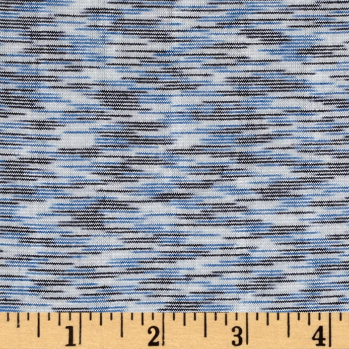 58f4ae17695 Space Dye French Terry Jersey Knit Royal - Discount Designer Fabric ...