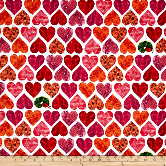 The Very Hungry Caterpillar I Love You Large Hearts Red Discount