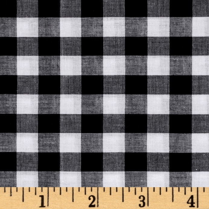 Lawn Gingham Check Blackwhite Discount Designer Fabric Fabriccom